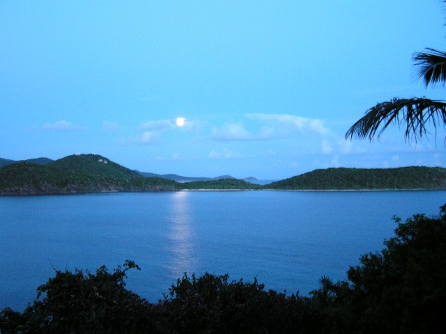 Full moon rising over Ditleff Point