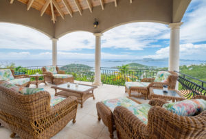 A patio with ocean view at Virgin Grand Estates