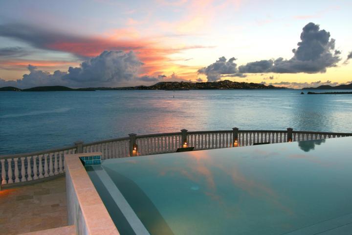 Stunning sunset views over St. Thomas