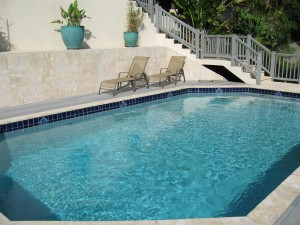 Large pool and surrounding deck