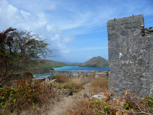 Great views from the ruins on the Leinster Bay trail